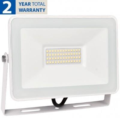 Προβολέας LED 50W 230V 4000lm 120° IP65 4000K Λευκό Φως Ημέρας 98HELIOS50/WH